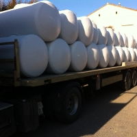 24 tanks 1000 liters for transport chassis for the south of France