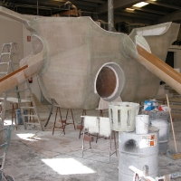 Construction of pirate ship for municipal pool