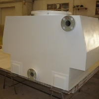 Special measure tank for truck trailer