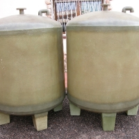 unpainted tanks with legs